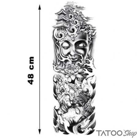 Tatouage ephemere manche Bouddha