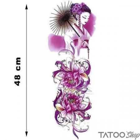 Tatouage ephemere manche femme japonaise