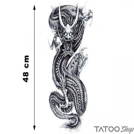 Tatouage ephemere manche dragon rugissant