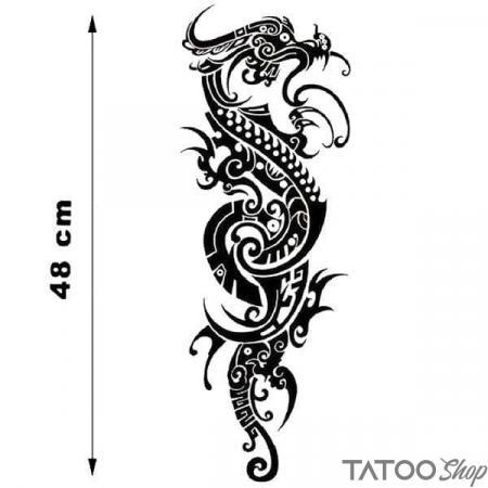 Tatouage ephemere dragon chinois tribal