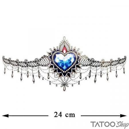 Tatouage ephemere underboob - bijoux cœur de topaze