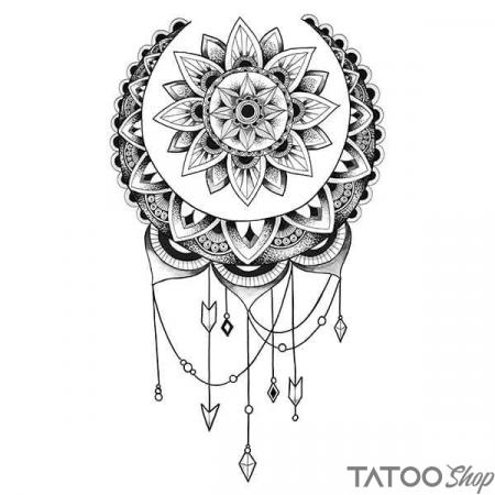 Tatouage ephemere mandala attrape rêve