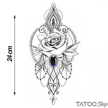 Tatouage ephemere bijoux rose tribal