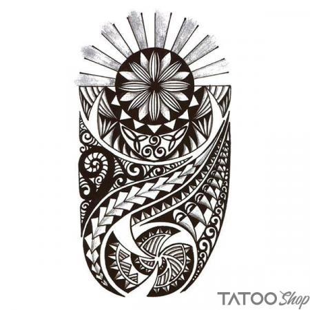Tatouage ephemere style maori del sol