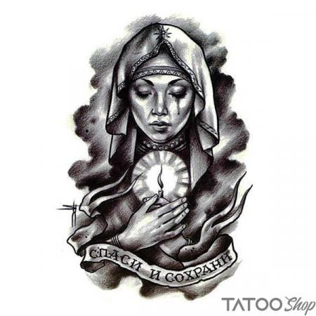 Tatouage ephemere la vierge Marie
