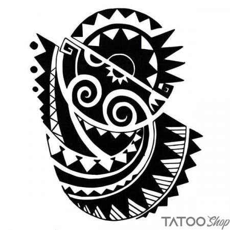 Tatouage ephemere motif maori