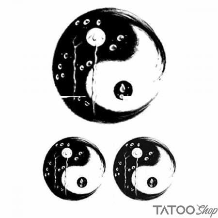 Tatouage ephemere symbole yin et yang