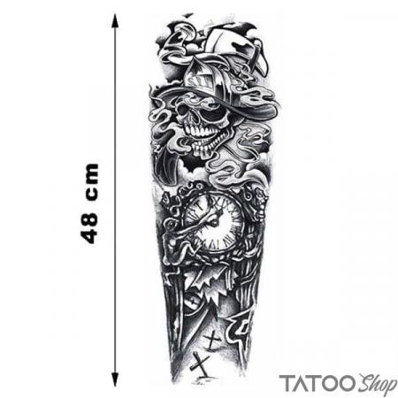 Tatouage ephemere manche le temps de la mort