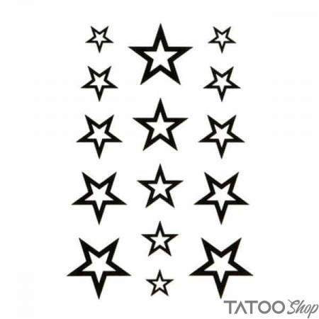 Tatouage ephemere petits étoiles