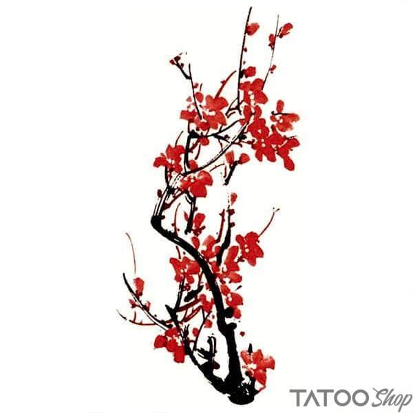 Tatouage Ephemere Dessin Fleur De Cerisier Tatooshop