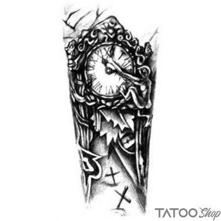 Tatouage ephemere avant bras le temps qui passe