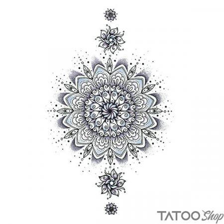 Tatouage ephemere sexy motif mandala