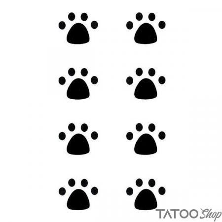 Tatouage ephemere empreinte patte noir