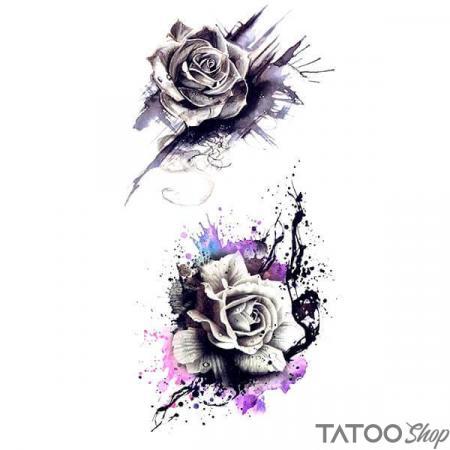 Tatouage ephemere roses blanches en peinture
